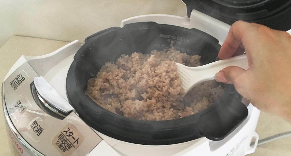 炊飯器の酵素玄米、寝かせ玄米