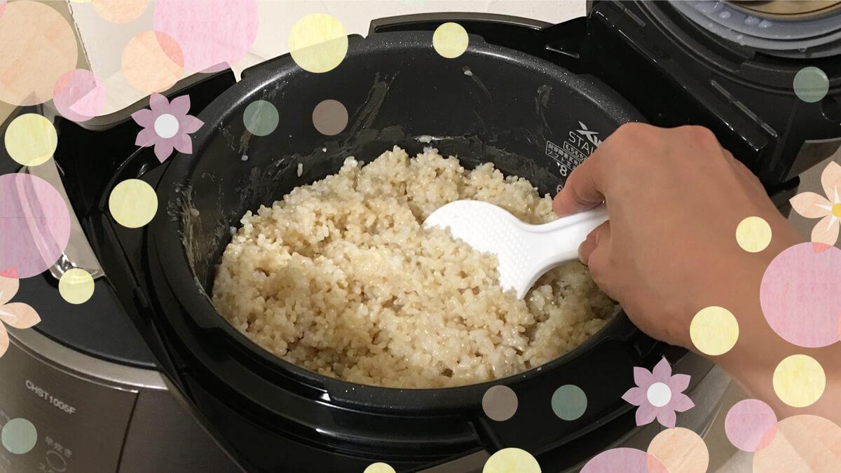 CUCKOO クック New圧力名人DXで炊いた、炊き立ての玄米