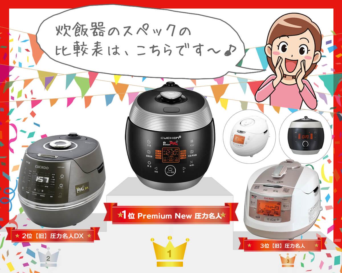発芽玄米&酵素玄米炊飯器、おすすめ【4品】をトコトン比較!